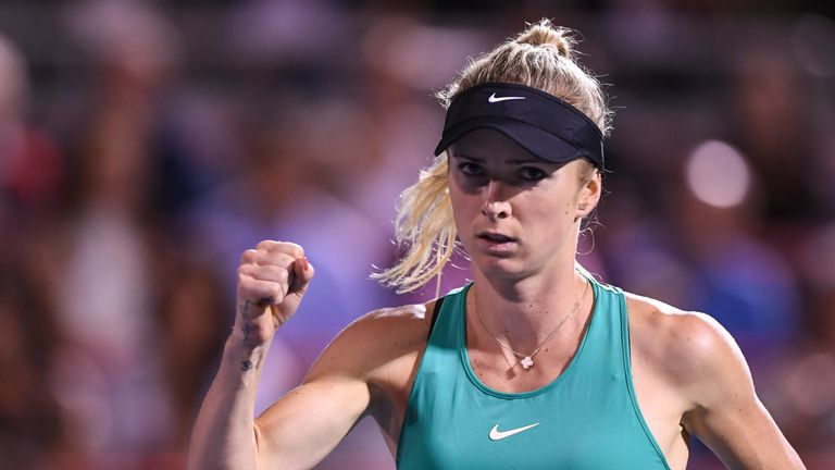 Elina Svitolina continued her run of form in Montreal