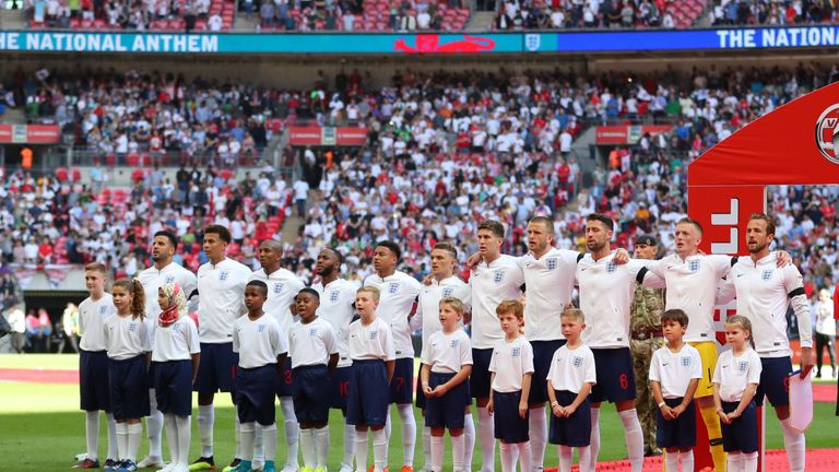 England's game against Switzerland will be their second of the season