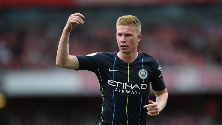 Kevin De Bruyne has suffered a knee injury in training