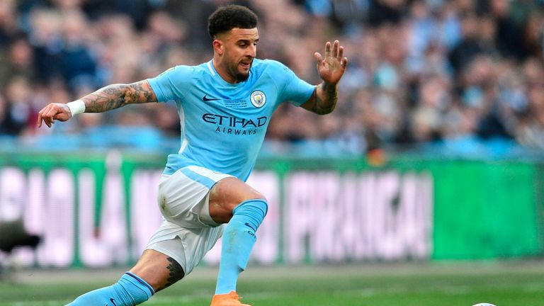 Kyle Walker joined Man City from Tottenham a year ago