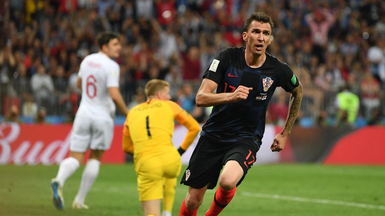 Mario Mandzukic scored the decisive goal in extra time to knock England out