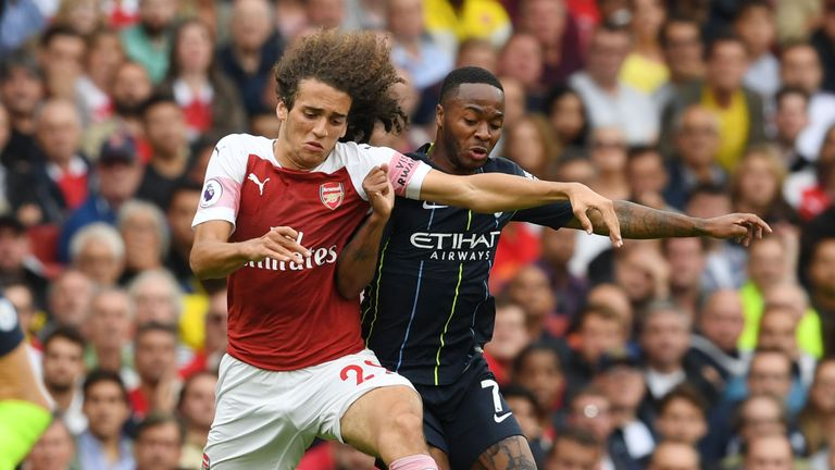 Matteo Guendouzi made his Arsenal debut in midfield