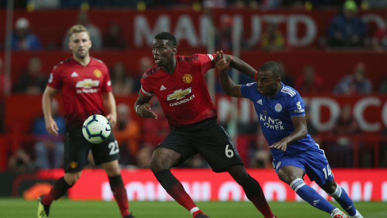 Paul Pogba dominated Leicester and will next face Brighton at the Amex Stadium
