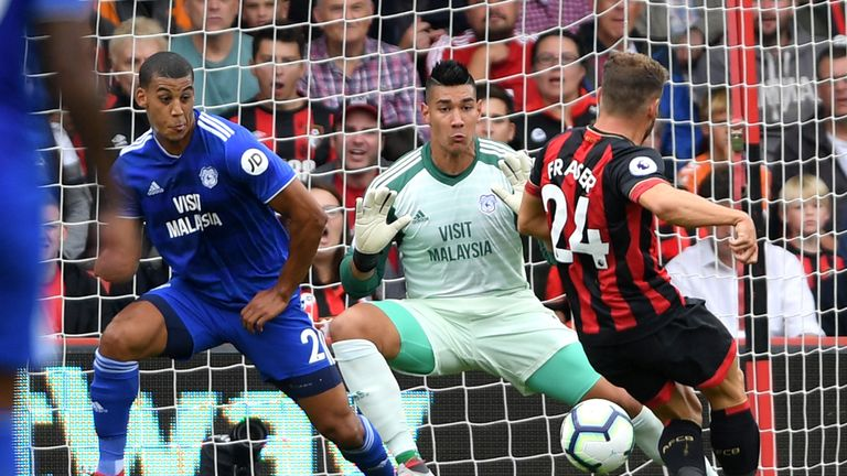 Ryan Fraser (right) makes it 1-0 to Bournemouth