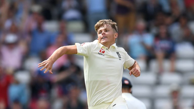 Curran picked up four wickets in India's first knock at Edgbaston