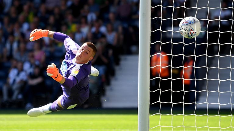 West Bromwich Albion's Sam Johnstone is unable to stop Bolton Wanderers from taking the lead
