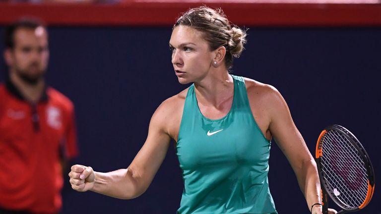Simona Halep came through her double-header