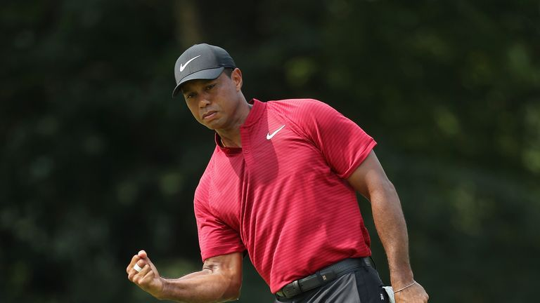 Tiger Woods posted the lowest final-round score of his major career