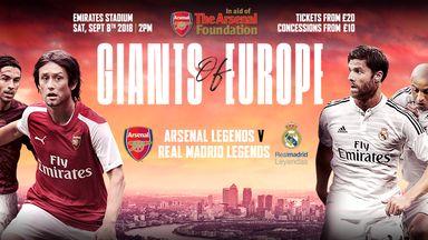 Arsenal Legends v Real Madrid Legends