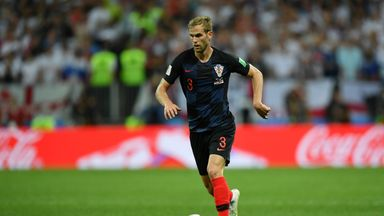 Ivan Strinic played for Croatia in their World Cup semi-final win over England