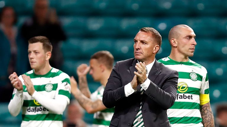 Brendan Rodgers saw his team go out of the Champions League on Tuesday