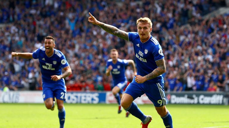 Danny Ward took advantage of some loose points to score for Cardiff