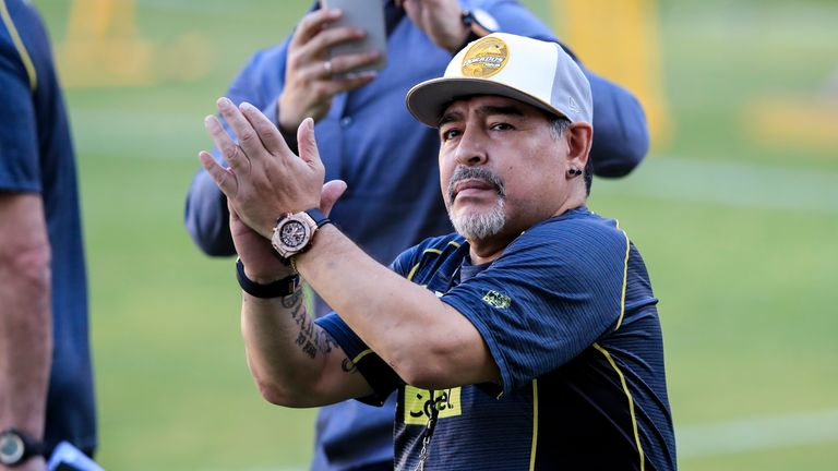 Diego Maradona reflects on struggles with addiction after joining Mexican club Dorados