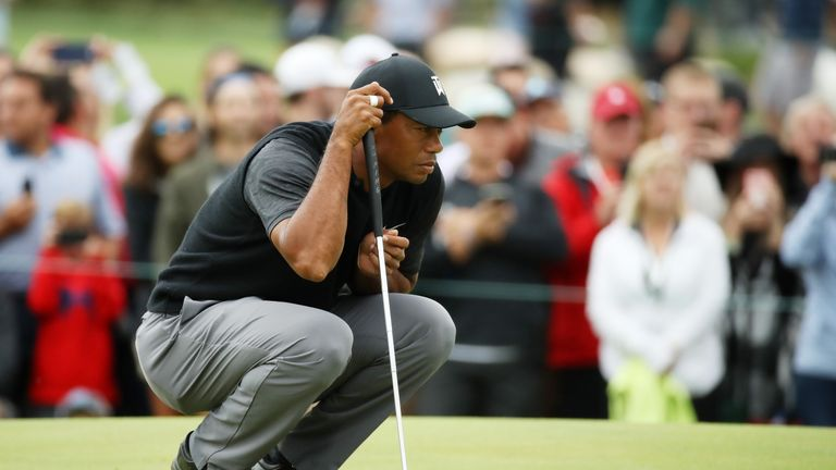 Tiger Woods birdied the first two holes but then missed a series of further chances