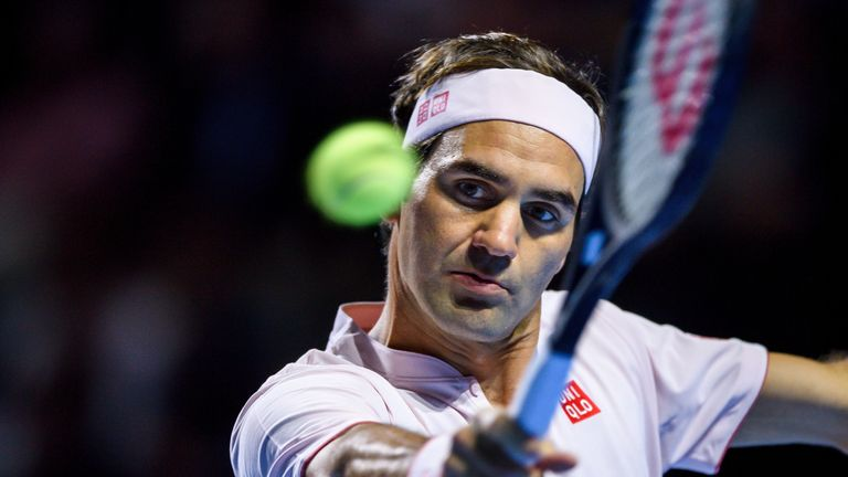 Roger Federer could win his 99th Tour level title on Sunday