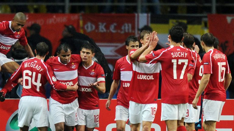b88d826c37 Spartak celebrate against MSK Zilina