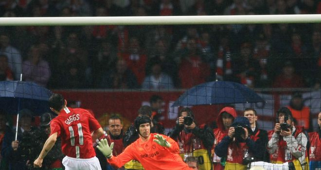 Giggs scored what turned out to be the winning spot-kick against Chelsea in the Champions League final
