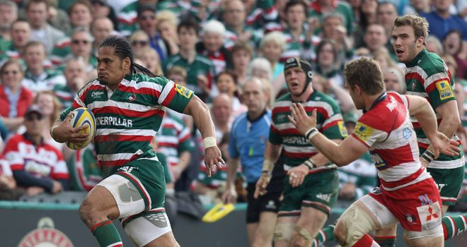 Alesana Tuilagi: hat-trick of tries for Leicester