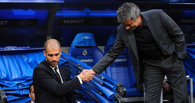 Pep Guardiola and Jose Mourinho were rivals at Real Madrid and Barcelona