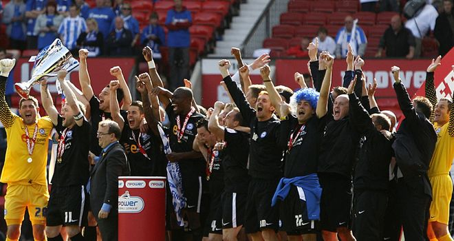 Peterborough: Celebrate their victory