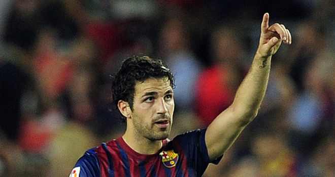 Fabregas: On the mark for Barcelona in five-goal rout
