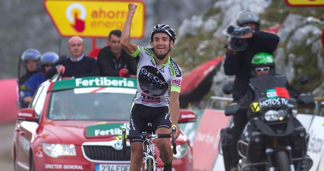 Cobo: Saw off his rivals on the final climb to assume the overall lead of the Vuelta