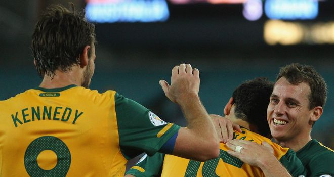 Australia: Celebrated their third win in a row in the 2014 World Cup qualifying campaign