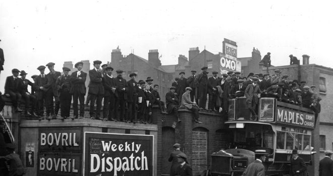 Photos from 1913 suggest teams were parking the bus at Stamford Bridge long before Jose Mourinho came along