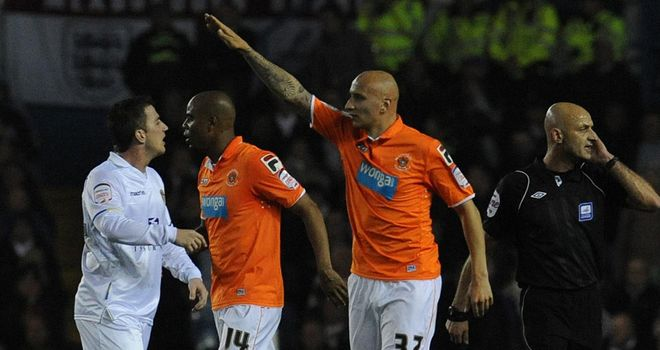 Shelvey: Hit a hat-trick for Blackpool at Elland Road
