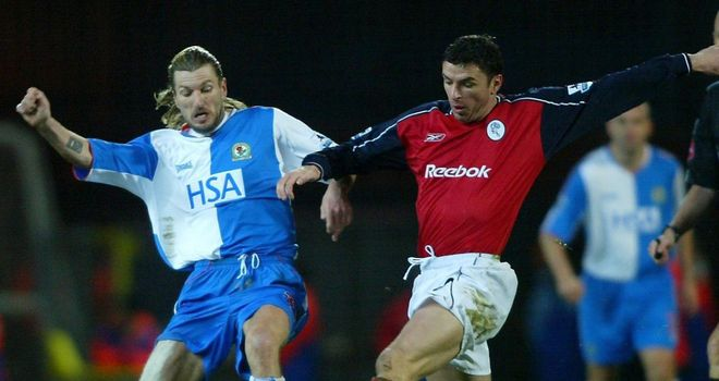 Robbie Savage: In action against his friend Gary Speed