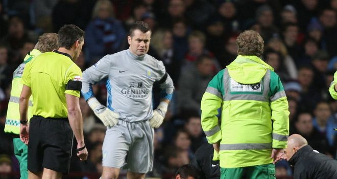 Shay Given: Alex McLeish hoping the Irish goalkeeper has not suffered a bad hamstring tear