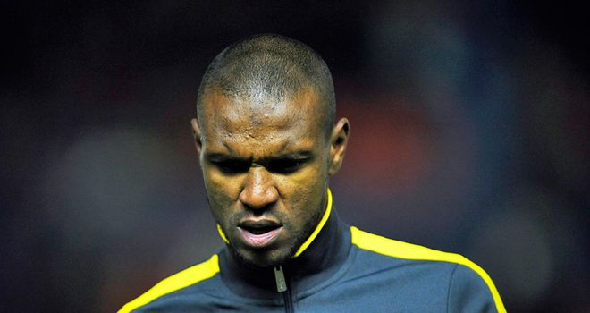 Eric Abidal: Back in light training with Barcelona
