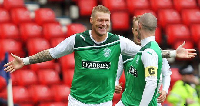 O'Connor: Celebrates his goal at Hampden