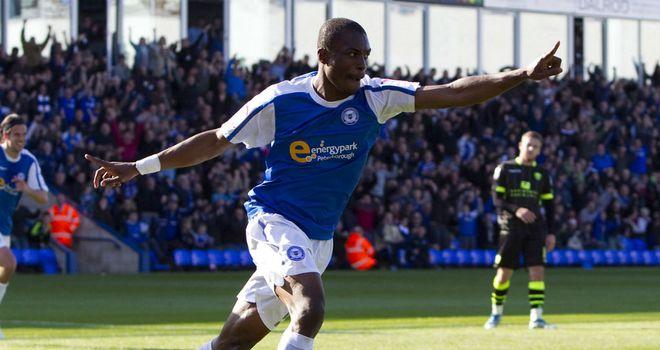 Gabriel Zakuani: No longer on Peterborough transfer list