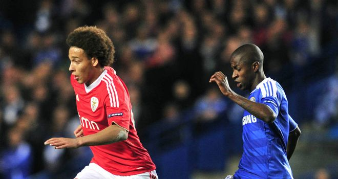 Axel Witsel: Benfica midfielder is being followed by Chelsea, according to Blues midfielder Ramires