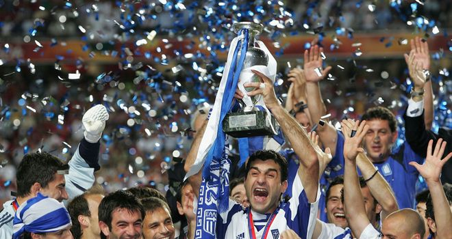 Greece scored just seven goals in six games to win Euro 2004 under Otto Rehhagel
