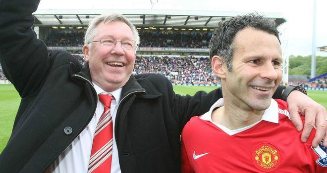 Sir Alex Ferguson & Ryan Giggs honoured in 20 seasons awards