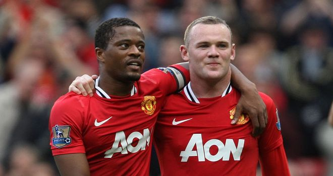 Evra won five Premier League titles at Manchester United
