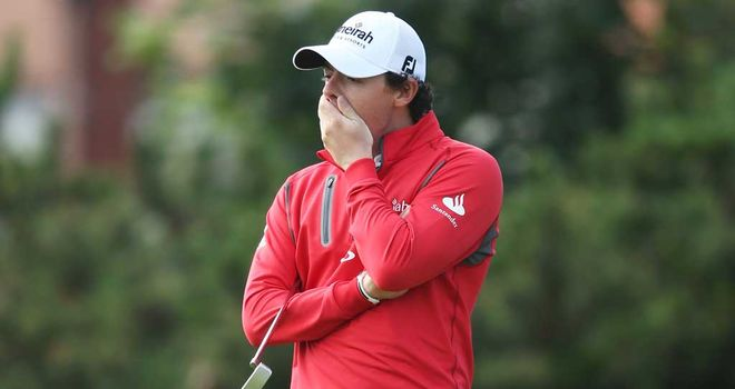 Rory McIlroy: slipped to five-over 75 in second round at The Open