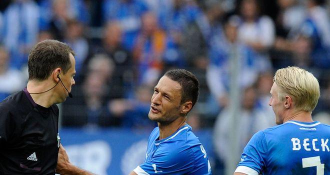 Sejad Salihovic is sent off late on