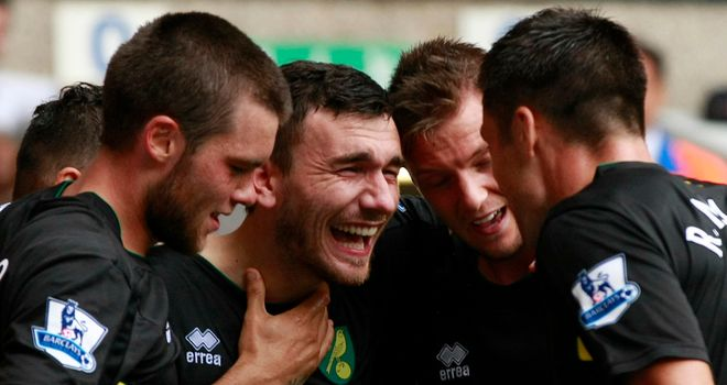Robert Snodgrass snatched a deserved equaliser for Norwich late on