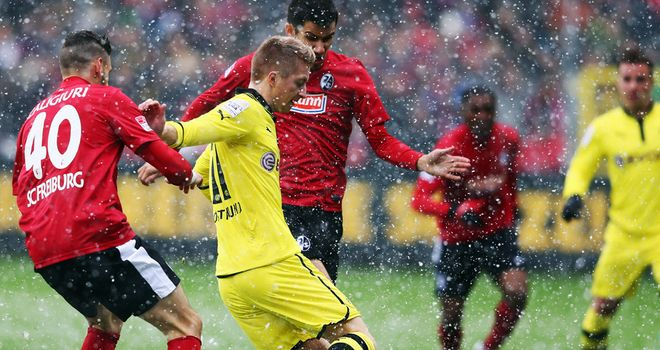 Marco Reus: In action for Dortmund