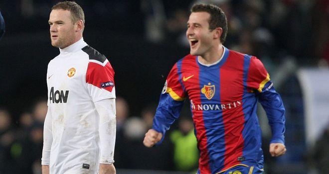 Alexander Frei celebrates victory over United last season