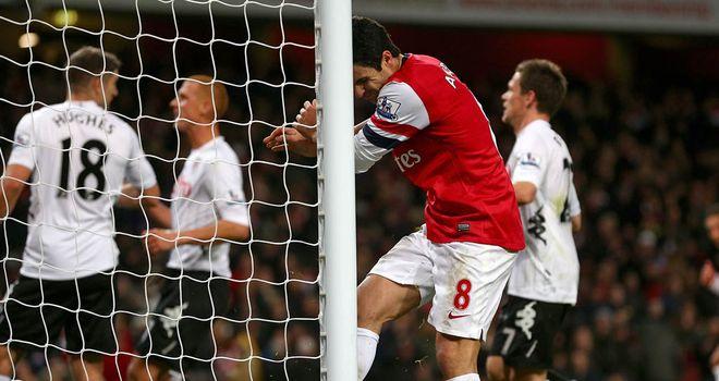 Mikel Arteta: Wasteful with spot-kick