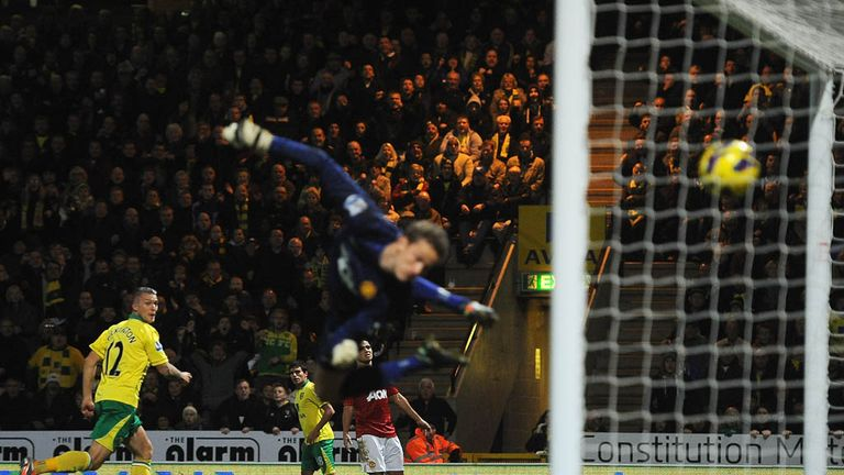 Anthony Pilkington: Heads past Lindegaard to win game for Norwich