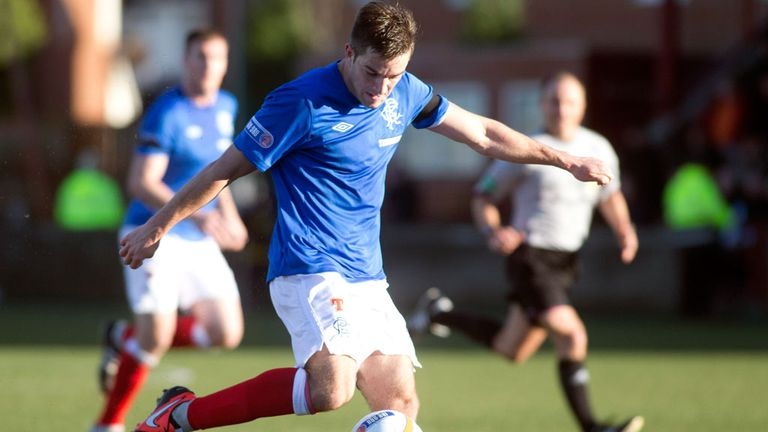 Andy Little: Scored twice as Rangers cruised to victory