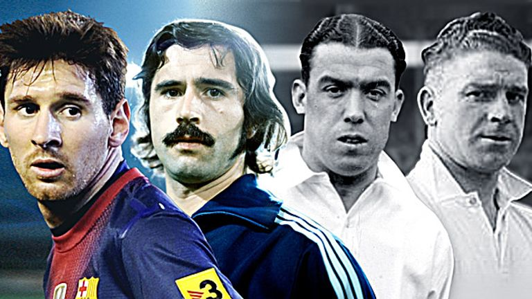 Goalscoring legends: Messi, Muller, Dean and Camsell