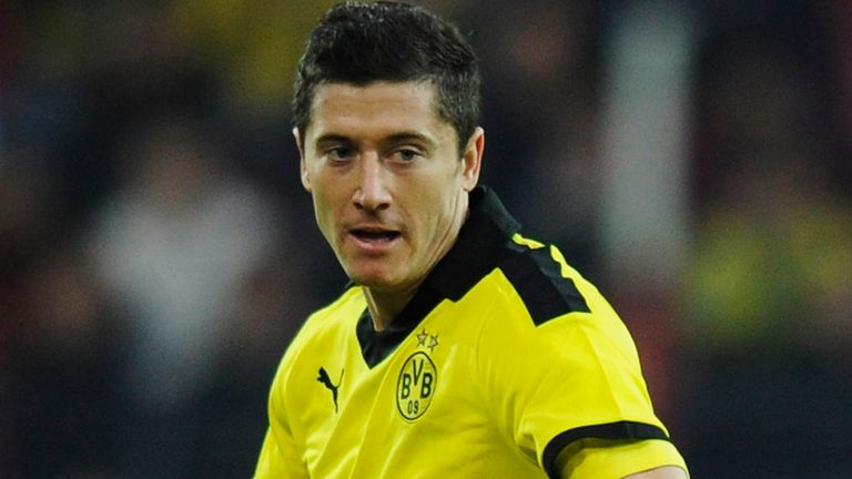 Robert Lewandowski: The Pole's fine form has provoked much speculation over a move away from Dortmund