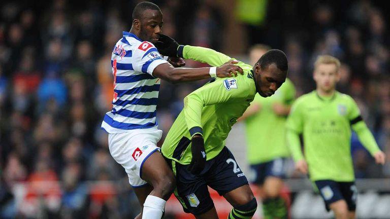 Samba Diakite: In action for QPR against Aston Villa