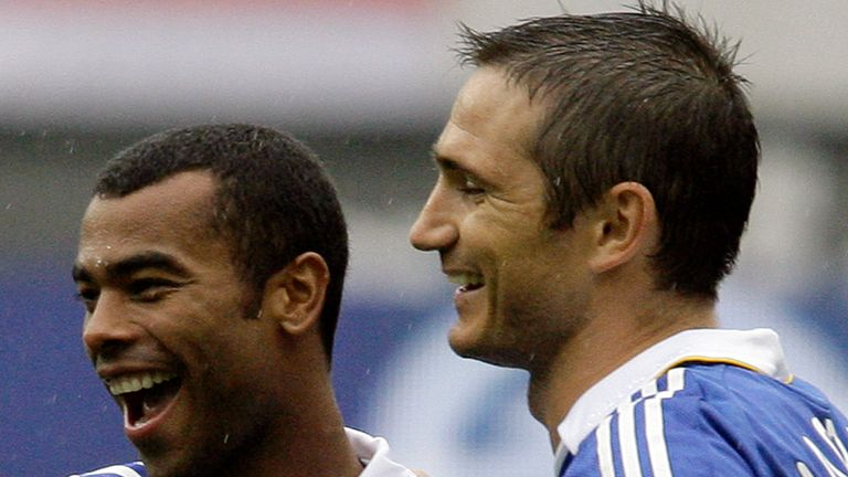 Ashley Cole is now managed by Frank Lampard at Derby